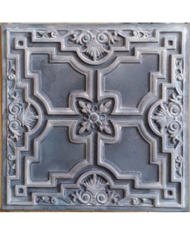 Tin ceiling tiles artistic old wood gray color cafe club wall panel PL16 pack of 10pcs