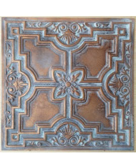 Ceiling tiles Faux vintage painted weathering copper color PL16 10pc/lot