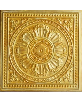 PVC Ceiling tiles Faux Tin golden color PL17 pack of 10pc