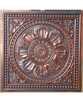 Faux Tin ceiling tiles Rustic copper color PL17 pack of 10pcs