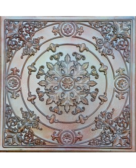 Faux Tin ceiling tiles aged colourful color PL18 pack of 10pcs
