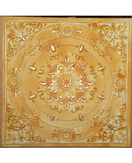 Old ceiling tiles Faux tin paint yellow gold color PL18 pack of 10pcs