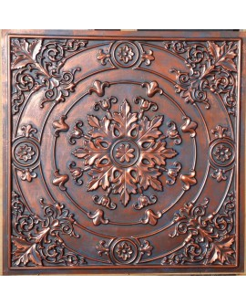 Faux Tin ceiling tiles Rustic copper color PL18 pack of 10pcs