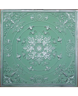 Faux Tin ceiling tiles green silver color PL18 pack of 10pcs