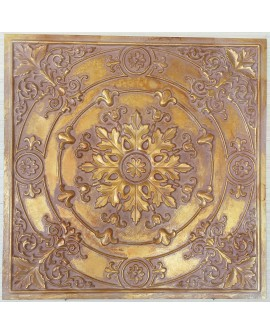 Ceiling tiles Faux painted vintage brown gold color PL18 10pc/lot