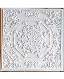 Faux Tin ceiling tiles white matt color PL18 pack of 10pcs