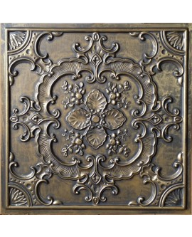 Faux Tin ceiling tiles ancient gold color PL19 pack of 10pcs