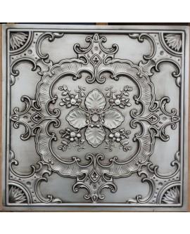 Faux Tin ceiling tiles antique silver color PL19 pack of 10pcs