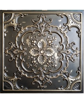 Faux Tin ceiling tiles classic aged brass color PL19 pack of 10pcs