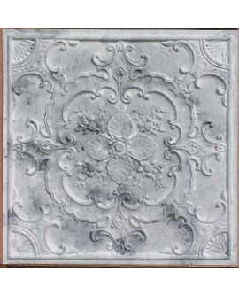 Faux Tin ceiling tiles distress white gray color PL19 pack of 10pcs