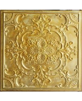PVC Ceiling tiles Faux Tin golden color PL19 pack of 10pc