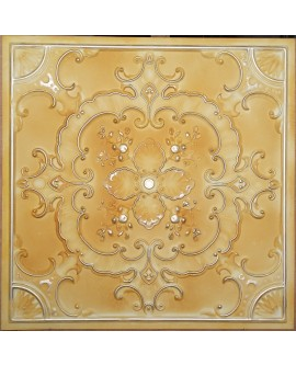 Old ceiling tiles Faux tin paint yellow gold color PL19 pack of 10pcs
