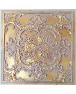 Ceiling tiles Faux painted vintage brown gold color PL19 10pc/lot