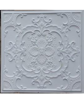Faux Tin ceiling tiles white matt color PL19 pack of 10pcs