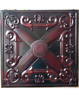 Faux Tin ceiling tiles aged red wood color PL22 pack of 10pcs