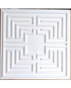 Faux Tin ceiling tiles white matt color PL25 pack of 10pcs