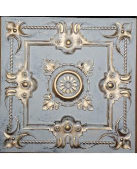 ceiling tiles 2x2 Faux tin paint aged white gold color PL29 pack of 10pcs