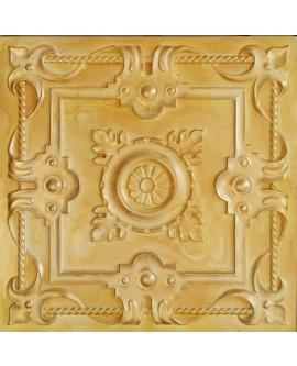 PVC Ceiling tiles Faux Tin golden color PL29 pack of 10pc