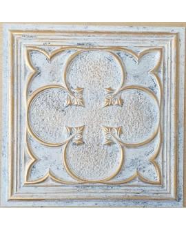 ceiling tiles 2x2 Faux tin paint aged white gold color PL35 pack of 10pcs