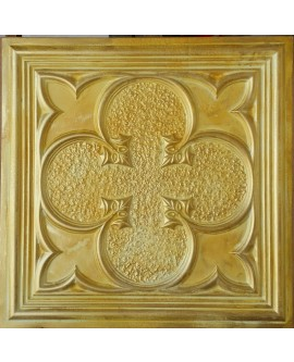 Plastic Ceiling tiles Faux Tin golden color PL35 pack of 10pc