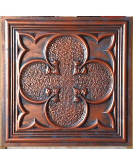 PVC Ceiling tiles Faux paint rustic copper color PL35 pack of 10pcs