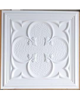 suspended Ceiling tiles Faux Tin white matt color PL35 pack of 10pc