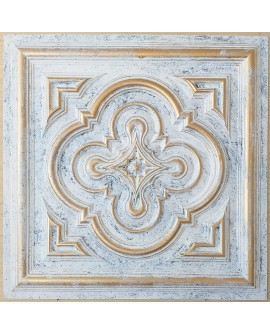 ceiling tiles 2x2 Faux tin paint aged white gold color PL36 pack of 10pcs
