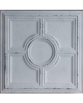 suspended Ceiling tiles Faux Tin distress crack white black color PL37 pack of 10pcs
