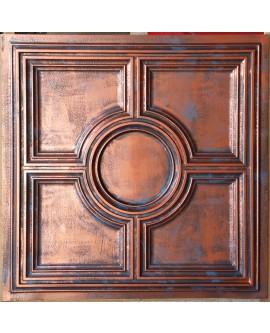 PVC Ceiling tiles Faux paint rustic copper color PL37 pack of 10pcs