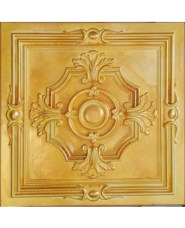 Metallized Ceiling tiles Faux Tin golden color PL38 pack of 10pc