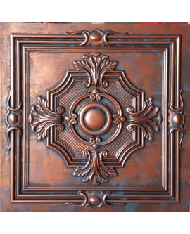 PVC Ceiling tiles Faux paint rustic copper color PL38 pack of 10pcs