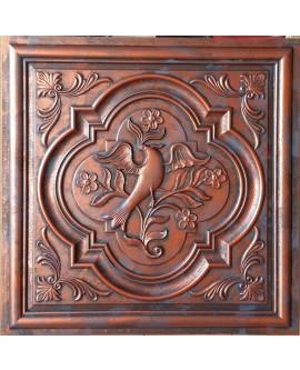 Ceiling tiles Faux paint rustic copper color PL39 pack of 10pcs