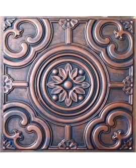 Faux Tin ceiling tiles rustic copper color PL50 pack of 10pcs