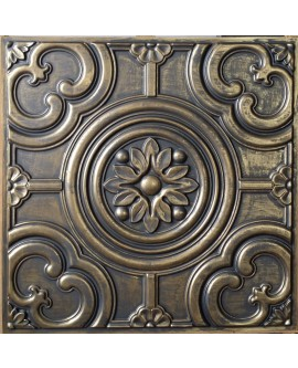 Faux Tin ceiling tiles ancient gold color PL50 pack of 10pcs