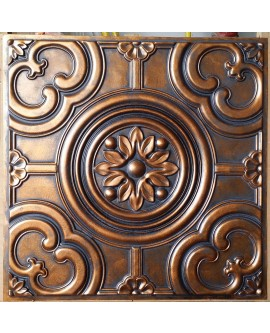 Faux Tin ceiling tiles archaic copper color PL50 pack of 10pcs
