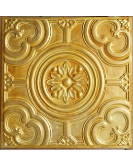 Metallized Ceiling tiles Faux Tin golden color PL50 pack of 10pc