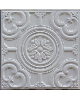 Faux Tin ceiling tiles white matt  PL50 pack of 10pcs