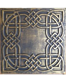 Drop in Ceiling tiles Faux Tin ancient gold color PL61 pack of 10pcs