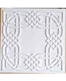 Drop in Ceiling tiles Faux Tin white matt color PL61 pack of 10pcs