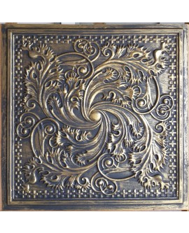 Drop in Ceiling tiles Faux Tin ancient gold color PL62 pack of 10pcs