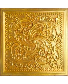 PVC Ceiling tiles Faux tin golden color PL62 10pcs/lot