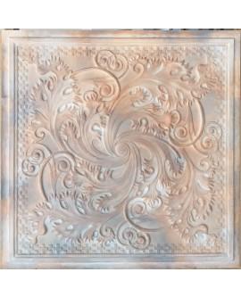 Plastic Ceiling tiles Faux tin washed brown color PL62 10pcs/lot