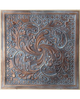 Ceiling tiles Faux vintage painted weathering copper color PL62 10pc/lot