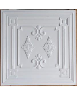 Drop in Ceiling tiles Faux Tin white matt color PL63 pack of 10pcs
