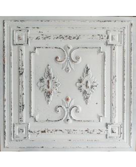 Ceiling tiles Faux tin distressed crack white black color PL63 10pcs/lot
