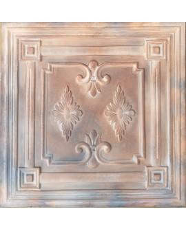 Plastic Ceiling tiles Faux tin washed brown color PL63 10pcs/lot