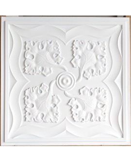 Drop in Ceiling tiles Faux Tin white matt color PL64 pack of 10pcs
