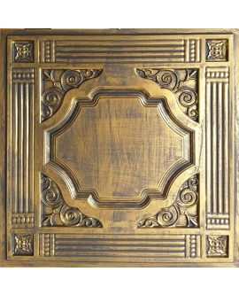Drop in Ceiling tiles Faux Tin ancient gold color PL65 pack of 10pcs