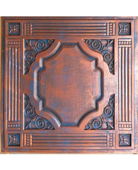 2x2 Ceiling tiles Faux Tin rustic copper color PL65 10pcs/lot