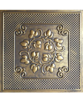 Drop in Ceiling tiles Faux Tin ancient gold color PL66 pack of 10pcs